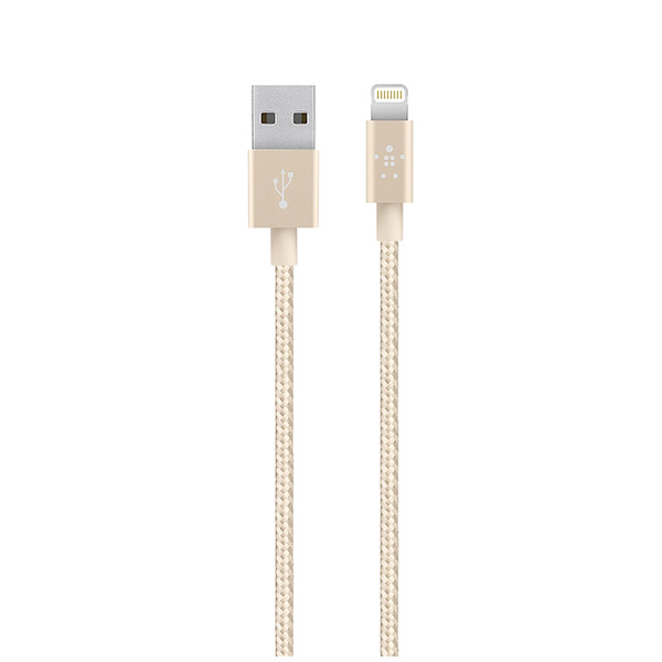 Cáp sạc iPhone Belkin Metallic USB-A to Lightning