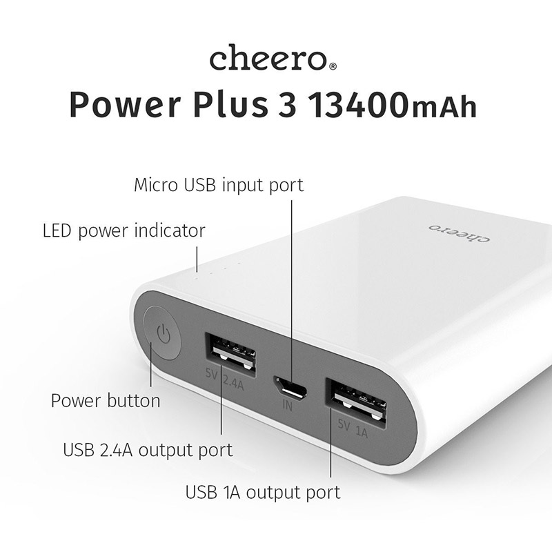 Pin sạc Cheero PowerPlus 3 13400mAh